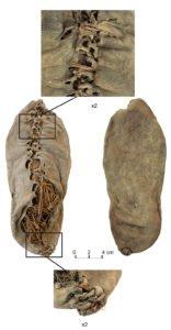 Fossiles de pieds d'homo sapiens.