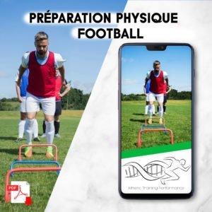 Un footballeur faisant de la préparation physique.